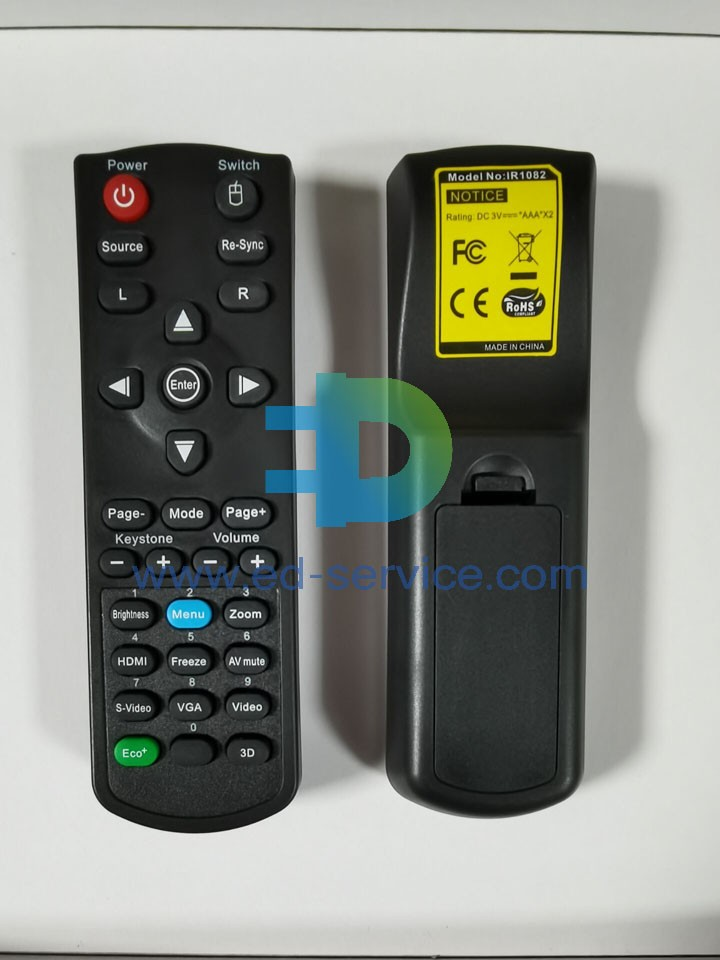 Projector Remote Control for ViewSonic  PJD7828HDL PJD7835HD PA503S PA500S