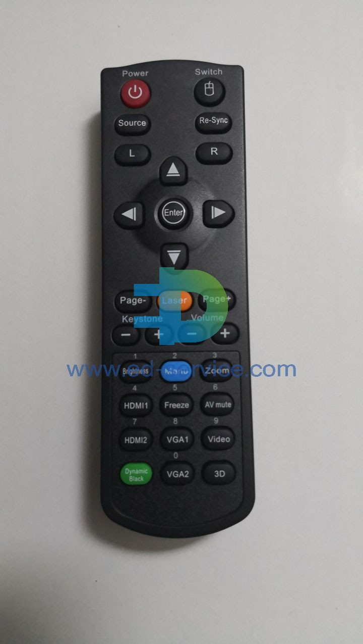 Projector Remote Control for ViewSonic  VS15991 VS15876 PA503XP VS15949